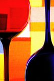 Wine Glassware Abstract Design. Abstract Wine Glassware Background Design Stock Photography