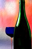 Wine Glassware Background Design Royalty Free Stock Image