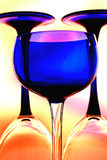 Wine Glassware Background Design Stock Image