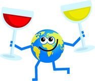 Wine globe Royalty Free Stock Photography