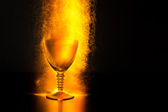 Wine Goblet with Erupting Sparks Royalty Free Stock Photography