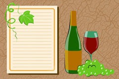 Wine and grape Stock Images