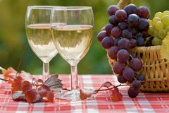 Wine and grape Stock Photo