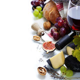 Wine, Grape And Cheese Royalty Free Stock Images