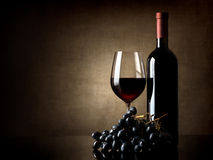 Wine and grape Stock Photos