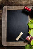 Wine and grape background Royalty Free Stock Photography