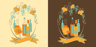 Wine and Grape Banner Stock Images