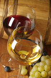 Wine, grape and barrel Royalty Free Stock Image