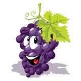 Wine grape cartoon Stock Images