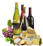 Wine ,Grape And Cheese Royalty Free Stock Photos