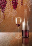Wine and grape wine Royalty Free Stock Photo