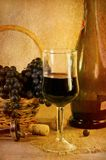 Wine and grapes. Still life Royalty Free Stock Photos