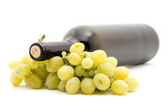 Wine and grapes Royalty Free Stock Images