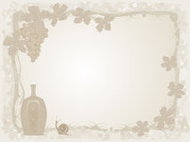 Wine and grapes background Royalty Free Stock Photos