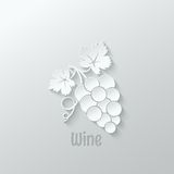 Wine grapes background illustration Royalty Free Stock Images
