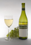 Wine grapes and bottle Royalty Free Stock Images