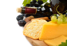 Wine, grapes and cheese Royalty Free Stock Photography