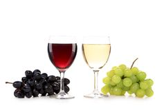 Wine and grapes composition. Stock Photography