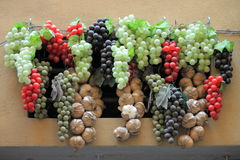 Wine grapes decoration Stock Images