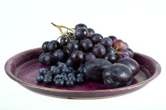 Wine grapes and fruits Royalty Free Stock Photos