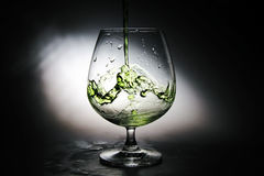 Wine grapes in a glass. Wine grapes fresh from the garden Royalty Free Stock Photo