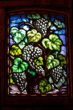 Wine Grapes Glass Window Royalty Free Stock Images