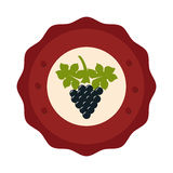 Wine grapes isolated icon Stock Photography