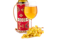 Wine and grapes Stock Photography