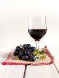 Wine, grapes and leafs Stock Images