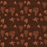 Wine grapes Seamless pattern Stock Photography