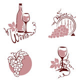 Wine and grapes stock illustration