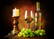 Wine and grapes still life Stock Photography