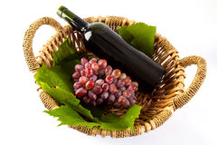 Wine and grapes Royalty Free Stock Photo