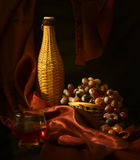 Wine and grapes. Royalty Free Stock Photo