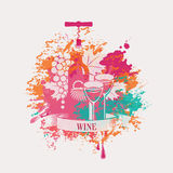 Wine and grapes Stock Images