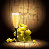 Wine and grapevine Royalty Free Stock Image