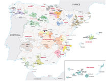 Wine-growing areas in spain Royalty Free Stock Photography