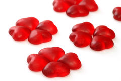 Wine gum hearts Stock Photo