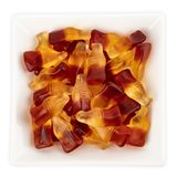 Wine Gums. In Bowl isolated on background royalty free stock photo