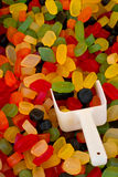 Wine gums. Or gum drops a popular retro sweet also known as Gummy candy at a pick and mix self service market stock image