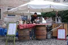 Wine and Ham Stall Stock Images