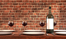 Wine has been served Stock Image