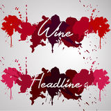 Wine headline watercolor splash Stock Images