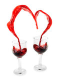 Wine Heart Stock Photography