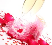 Wine and heart Royalty Free Stock Photography