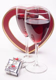 Wine with heart Royalty Free Stock Photography