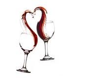 Wine Heart Stock Photos