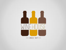 Wine house. House for wine and other alcohol stock illustration