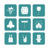 Wine Icon Collection Stock Photo