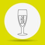 wine icon design Stock Photography